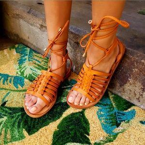 Shoes - 🆕️//The Oasis// tan gladiator sandal